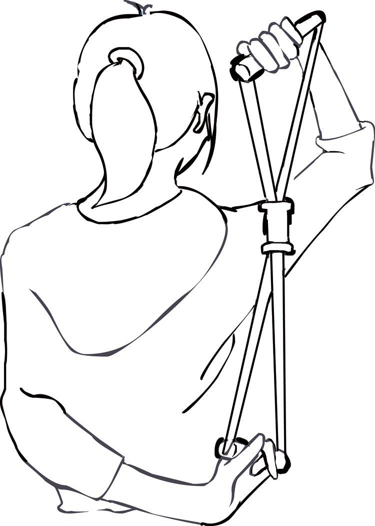 一字肩款式图手绘