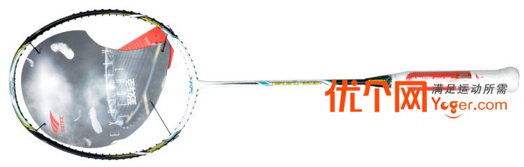 索牌_sotx索牌hb80w羽毛球拍(3d立体减震与六棱破风结构,让