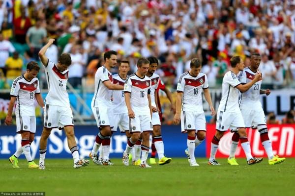 2014巴西世界杯 德国血洗葡萄牙 穆勒戴帽图片