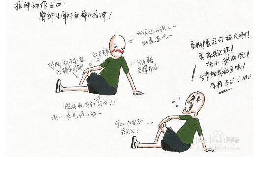 跑步后的拉伸运动图解(漫画版)