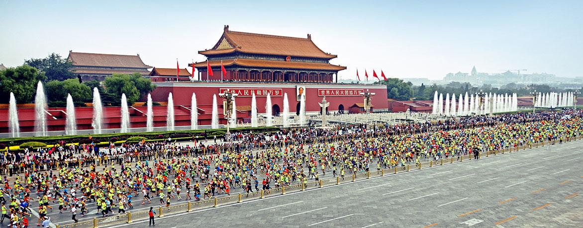 2016年北京马拉松比赛时间 地点 路线图公布图片