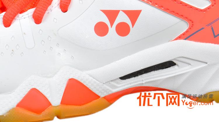 yonex尤尼克斯shb-02lx羽毛球鞋珊瑚橙(王者专属!林丹同款战靴!图片