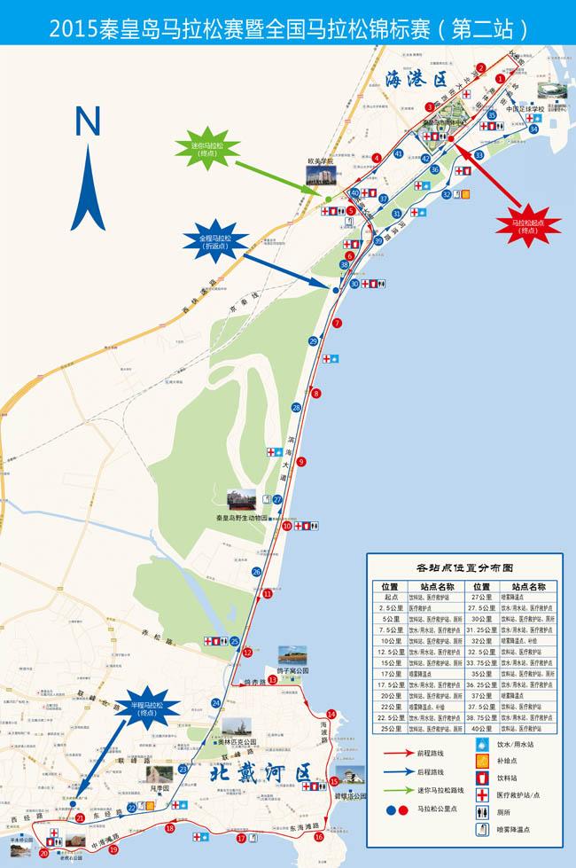 2015年秦皇岛马拉松路线图下载