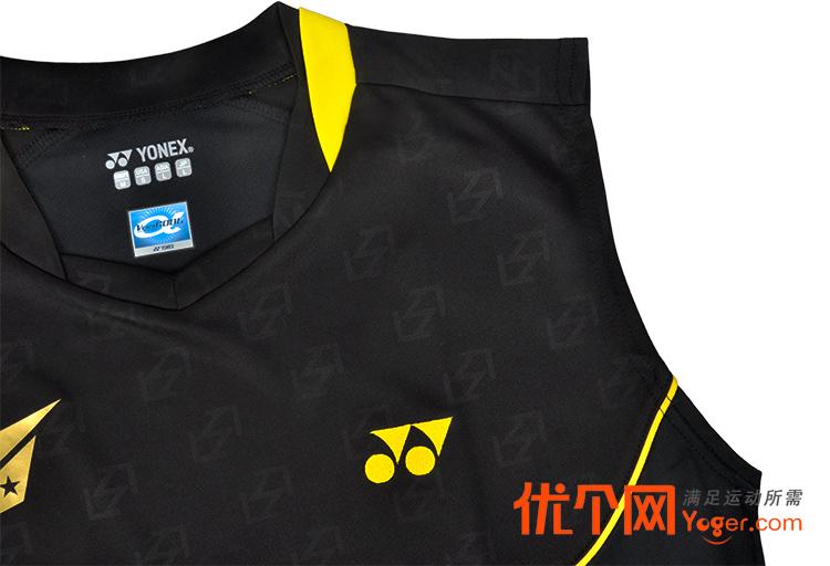 yonex尤尼克斯10000ldex男款黑色羽毛球背心(林丹同款图片