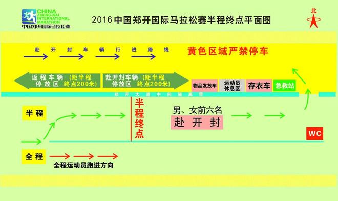 2016马拉松半程线路示意图
