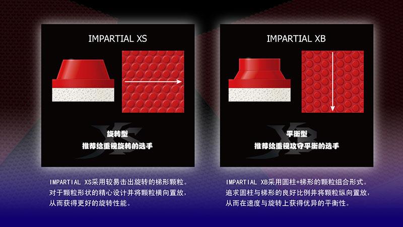 蝴蝶IMPARTIAL正胶套胶的异同