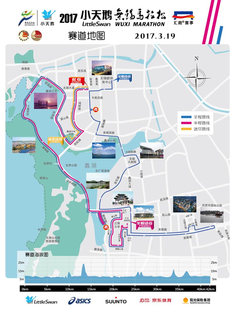 无锡马拉松路线图