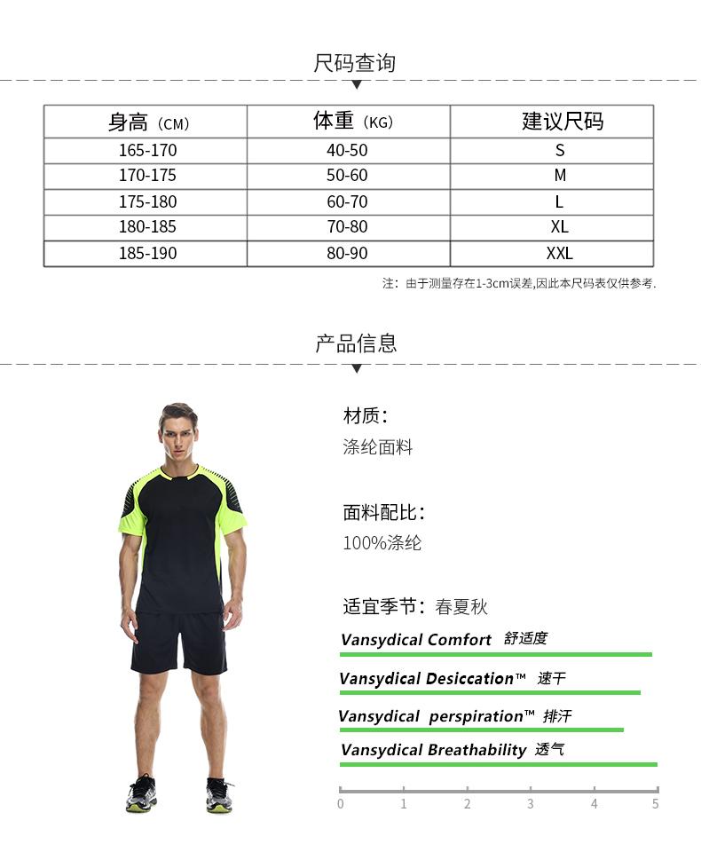 跑步套装产品信息