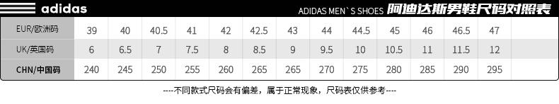 阿迪达斯alphabounce rc m男款跑步鞋尺码表