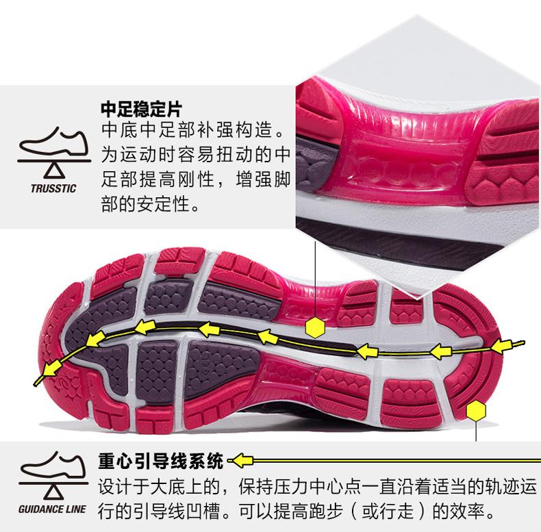 亚瑟士ASICS N19女款缓震慢跑鞋详情图10