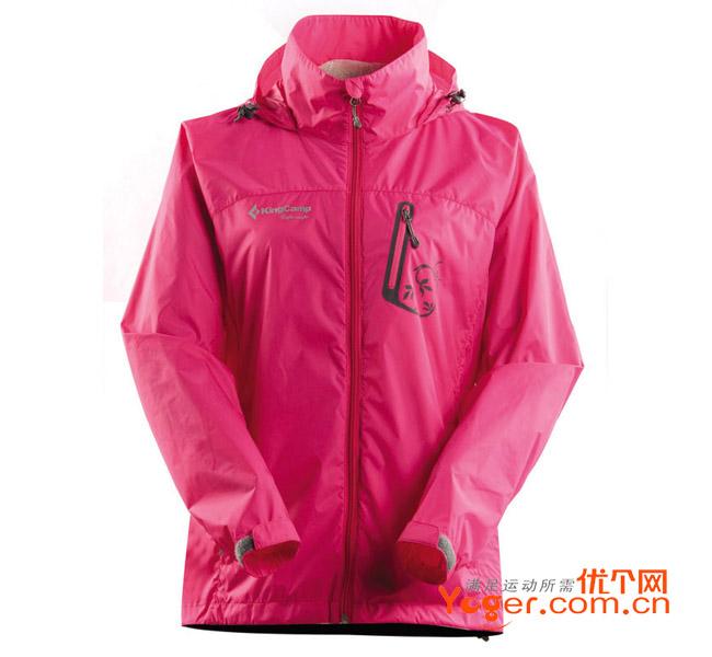 KINGCAMP康尔健野 女款轻薄冲锋衣 KW6504 粉红款