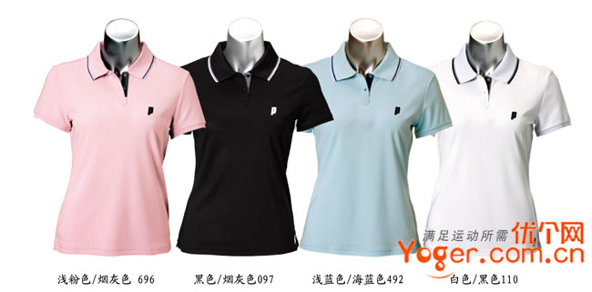 Prince王子 CW005女款纯色POLO T恤,团购款式12件起订
