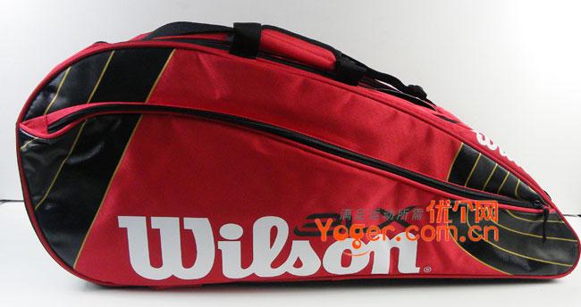 Wilson维尔胜 BLX Team 6X-Red六支装网球包(WRZ8029),双肩大包,可调大小