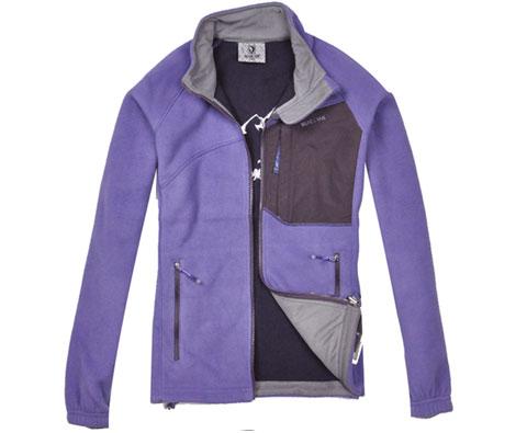 布来亚克BLACK YAK FUW444 灰紫色女款开衫抓绒衣