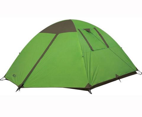 牧高笛采风4四人双层铝杆帐篷绿色(防风防水,空间宽敞舒适)