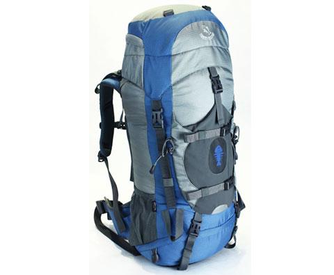 硬骨HARDBONE HB10003 甲岗 45L登山背包 蓝色  轻量才是王道
