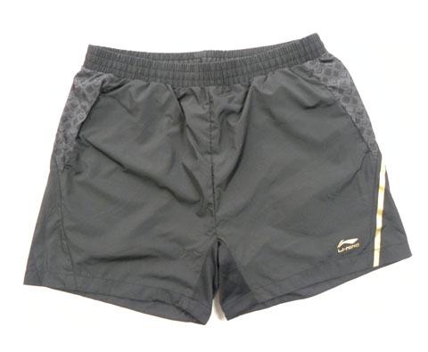 2010年莫斯科世乒赛比赛短裤 李宁AAPE011-2 灰色