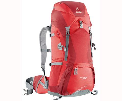 多特Deuter 33730 ACT Lite 40+10登山包,火红色/银黑色可选