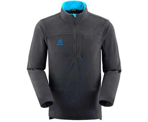 凯乐石Kailas KG213141 男款碳灰抓绒衣,轻便暖和,优雅低调