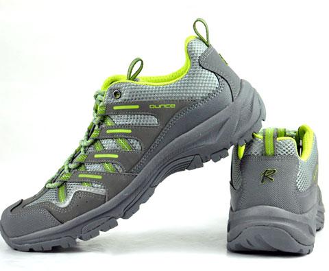 遨游仕ounce男女款徒步鞋/登山鞋R302 灰绿色(超轻超透气)