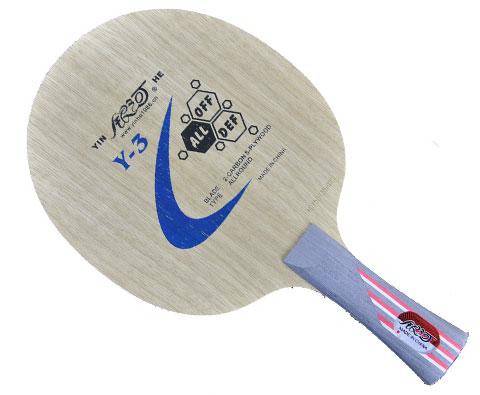 银河Y-3乒乓球底板,5木2碳薄碳板