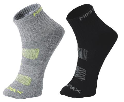 牧高笛NMB1209001徒步袜(两双)黑+浅灰 彼此的呵护从脚开始
