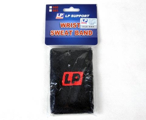LP欧比 棉质手腕汗带(护腕)LP660(黑) 运动汗带