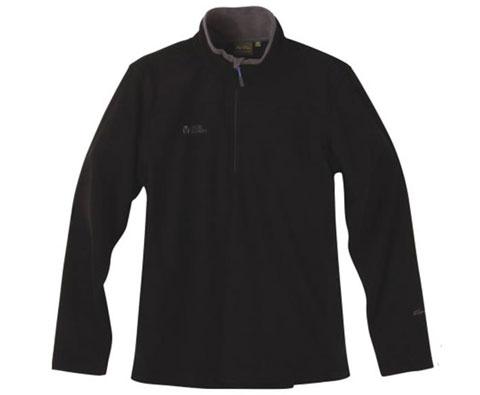 牧高笛Mobigarden NMB1211004男式半开襟贴身抓绒 黑色 男人也需要贴心的温暖