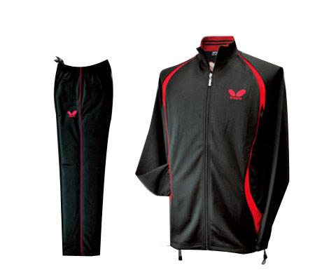 Butterfly蝴蝶 WSW420 乒乓训练用套服 黑红