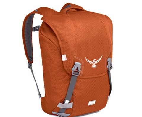 "Osprey Flap 辣椒红色25L翻盖日用背包 可容纳15.4寸笔记本 城市里的""小飞鹰"""