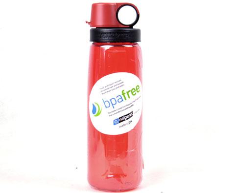 Nalgene 2590-5024 红透明650ml宽口运动水瓶 美国原产
