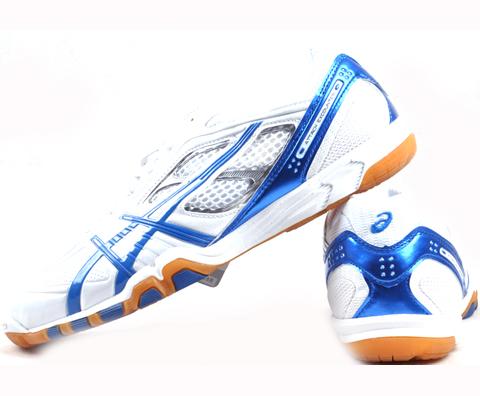 ASICS亚瑟士TPA327-0142蓝色款乒乓球鞋,此鞋在手,天下我有