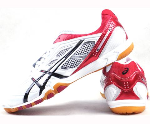 ASICS亞瑟士TPA327-0123紅色款乒乓球鞋,愛世克斯TPA327永恆的經典