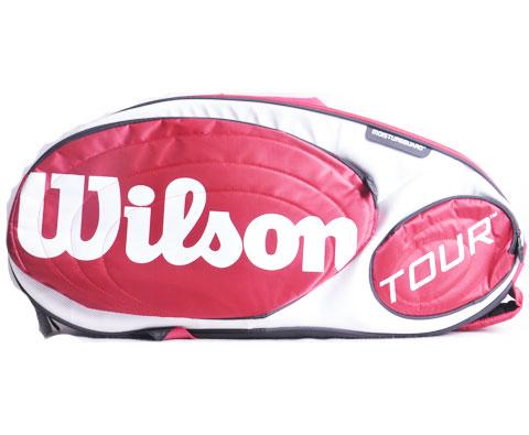 Wilson维尔胜 (844215)15支装 红白 网球包 Tour Red