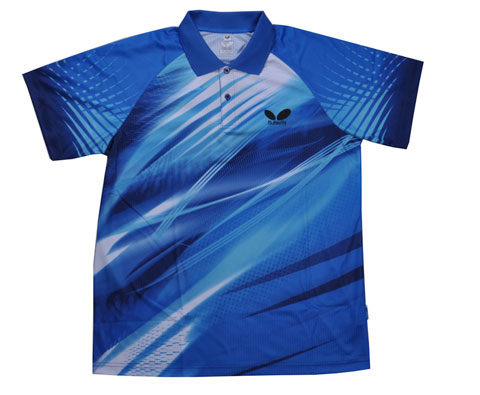 Butterfly蝴蝶 新款专业比赛T恤 TBC-BWH252-0317 浅蓝色