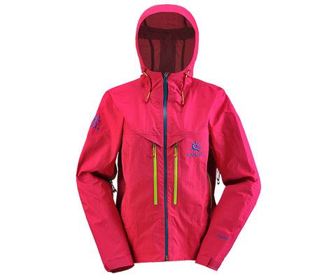 凯乐石KG124182 Event女款3层极限无缝冲锋衣 玫红(玄翼)