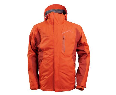 探路者 TABA91293男式套绒冲锋衣橘红(含抓绒内胆)体验户外,演绎别样生活