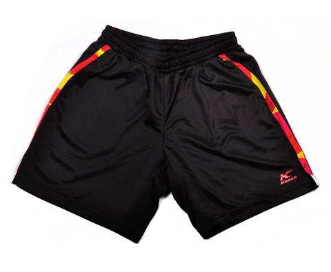 凯胜KASON FAPG027-1男款比赛短裤(黑经典色与活力撞色的绝配)
