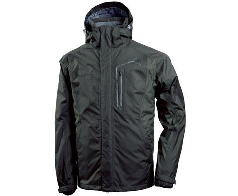 探路者男式三合一冲锋衣 TABA91293 栗棕(防风防水,保暖透湿)