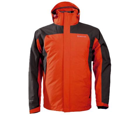 探路者男式G-TEX套绒冲锋衣 TABA91071 橘红(探路者高端冲锋衣)
