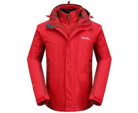 牧高笛男款中国红两件套冲锋衣(鸿雁)NMB031003