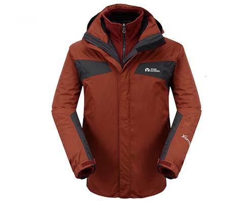 牧高笛男式两件套冲锋衣(米雷) NMB1218001 暗橙