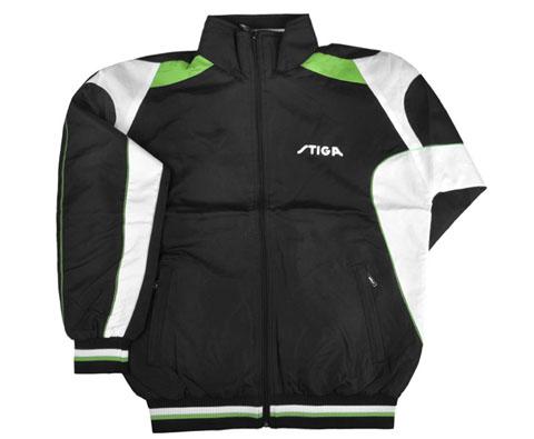 斯帝卡Stiga G1104021黑绿色长袖乒乓球服 许昕御用款!