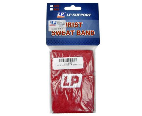 LP欧比 棉质手腕汗带(护腕)LP660(红) 运动汗带