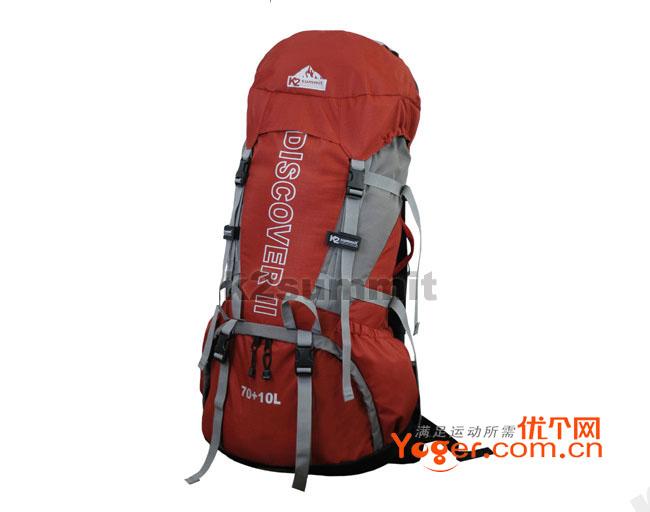 K2 70+10L专业登山包 Ba48 桔色