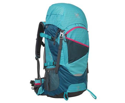 探路者Toread 45L双肩背包TEBB80013 松石蓝 中短途多用途背包