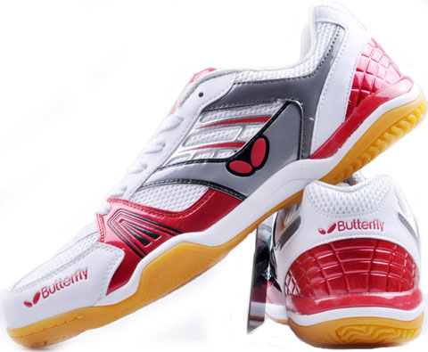 蝴蝶Butterfly UTOP-1 红色乒乓球鞋(灵动乒鞋,超透气)