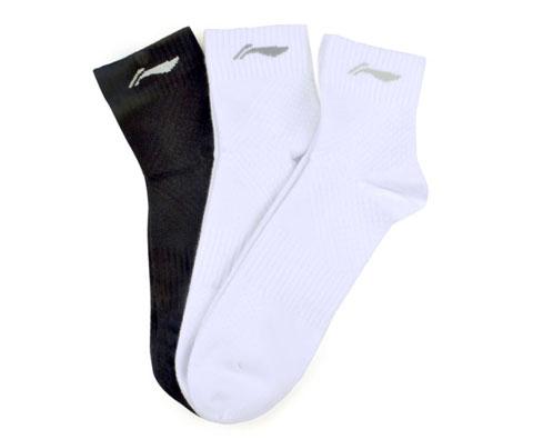李宁AWSH161-1男款中袜(3双超值套装,让您的双脚清爽一夏!))