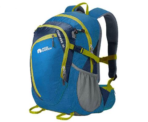 牧高笛NMF1324004指南针30L徒步登山包 动力蓝
