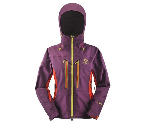 凯乐石kailas KG124162 玄翼女款酱紫色三层极限无缝冲锋衣